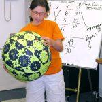 girl with math ball