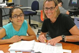 reading tutoring: student and reading tutors focus on overcoming reading difficulties