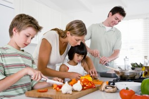 family_cooking_together