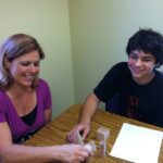 math tutoring: teacher and student