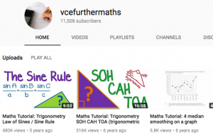 vcefurthermaths math studies youtube channel