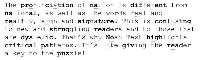 Noah Text for struggling readers
