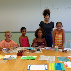 Authors and Illustrators students and teacher at RITES summer academic course in Providence and East Greenwich RI