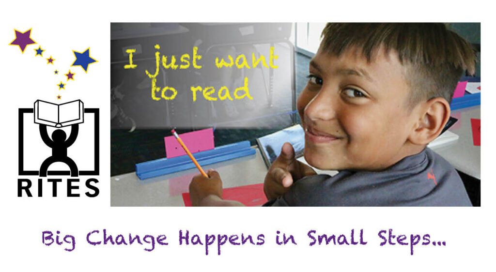 I just want to read - big change happens in small steps